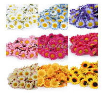 100Pcs Artificial Gerbera Daisy Silk Flowers Heads For DIY Wedding Party AE01488(China (Mainland))