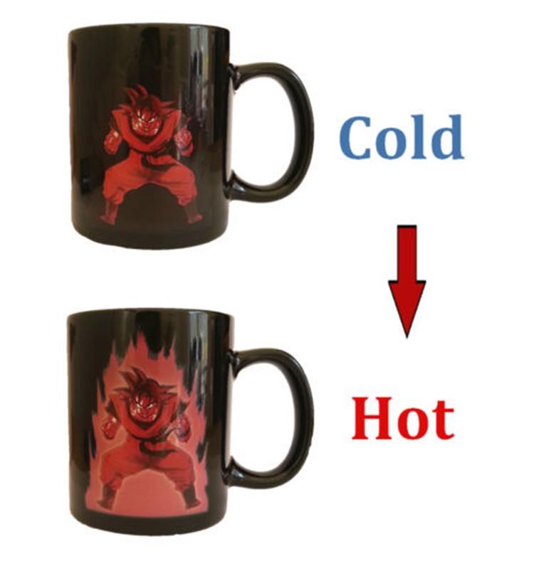 HOT SALL The Factory Wholesale Dragon Ball Z Vegeta Changing Coffee Mug Heat-sensitive Reactive Ceramic Magic Cups(China (Mainland))
