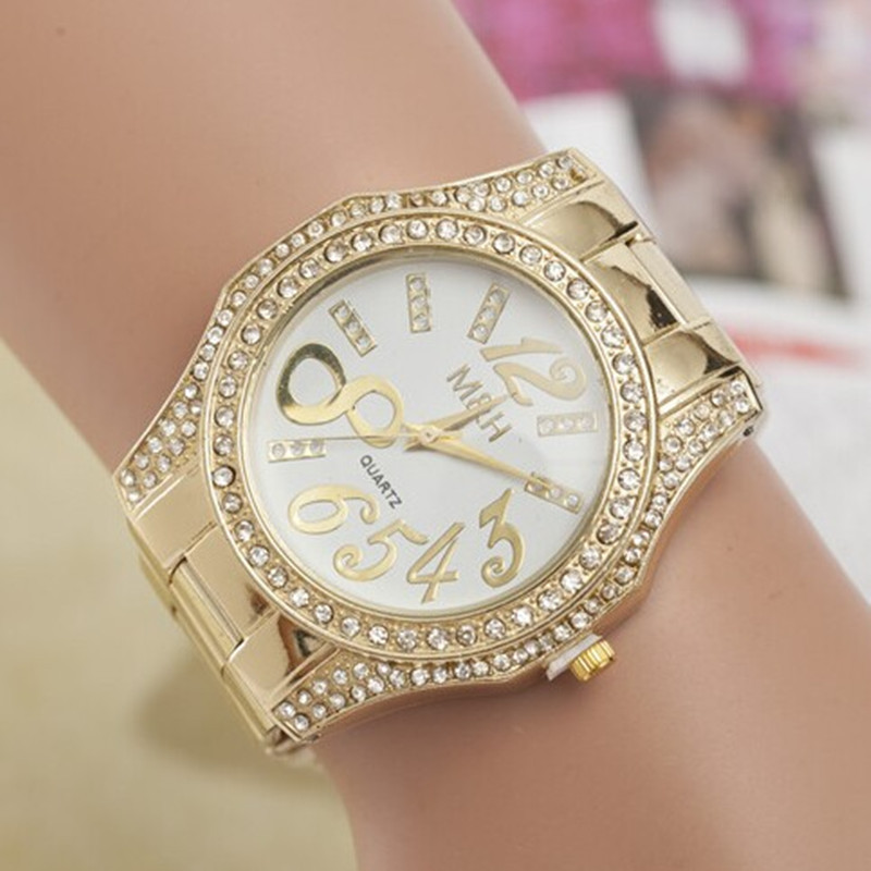 2015 new brand logo fashion gold steel