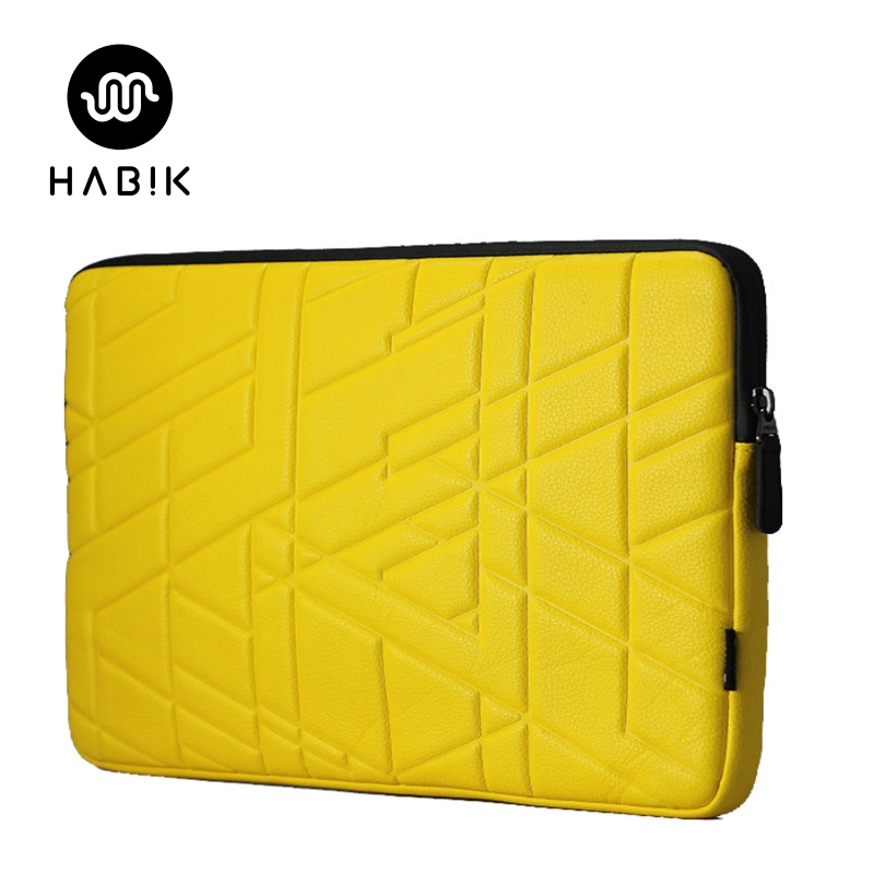 HABIK Laptop Computer Notebook PU Leather Shock Absorption Sleeves Case Bag for Macbook Air Lenovo Acer 11 13 15 inch(China (Mainland))