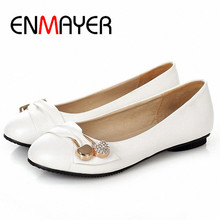 ENMAYER Fashion Flats Women Shoes Large Size 34-47 Female Ballet Shoes Closed Toe Spring and Autumn Casual Women Flats Shoes(China (Mainland))