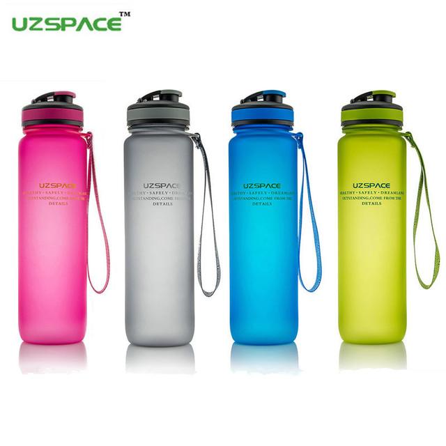 Бутылки воды UZSPACE марка 650 - 1000 мл скраб mlfashion Frozem портативный пространство устойчивые виды спорта Nnutrition пользовательские шейкер бутылка