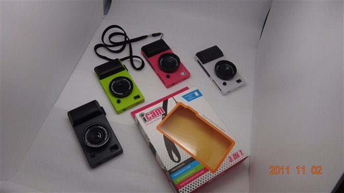 Free Shipping Camera Case For iPhone 4 ,Hot Sell Cover For iPhone 4s ,Accessories For Apple,Drop Shipping+Mix Order
