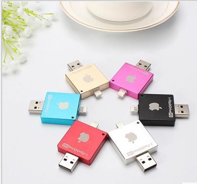 New 2015 for iPhone / iPad / iPod / MAC, USB Flash Drive 8GB 16GB 32GB 64GB Pen disk memory stick HD pendrive Free Shipping Gift(China (Mainland))