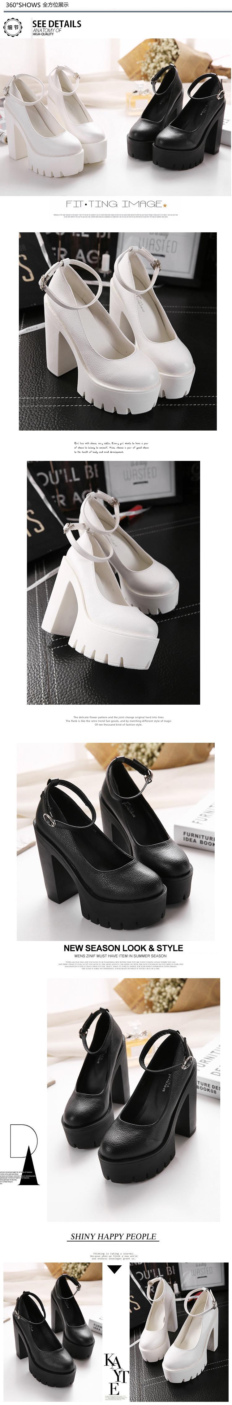 2016 new fashion high heels platform pump women shoes ruslana korshunova thick heels shoes women high heels
