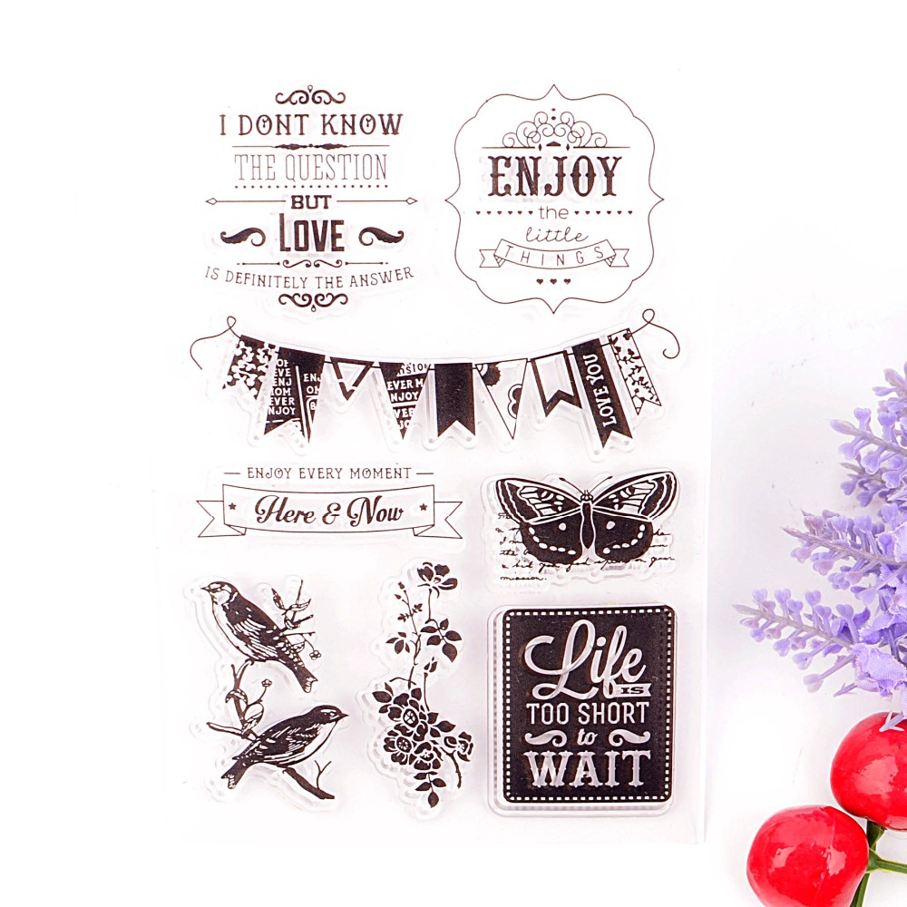 how to use scrapbooking clear stamps