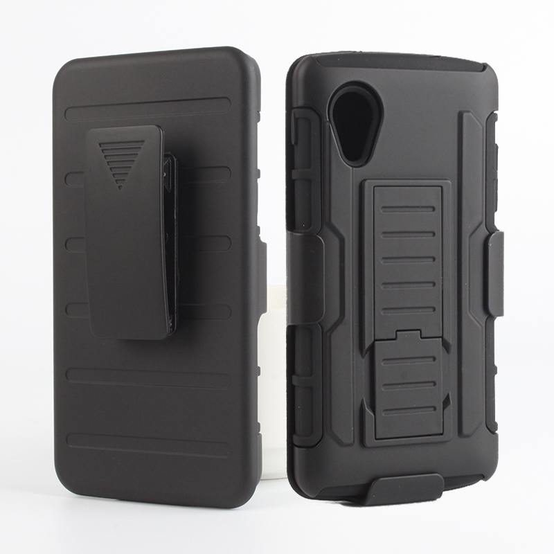 Armored Shockproof Stand Swivel Hard Phone Cases for LG Nexus 5 D820 D821 Rugged Impact Belt Clip Holster Phone Cover Cases(China (Mainland))