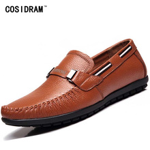 2015 Fashion Style genuine leather men flats shoes Casual Loafers men shoes High Quality moccasins shoes