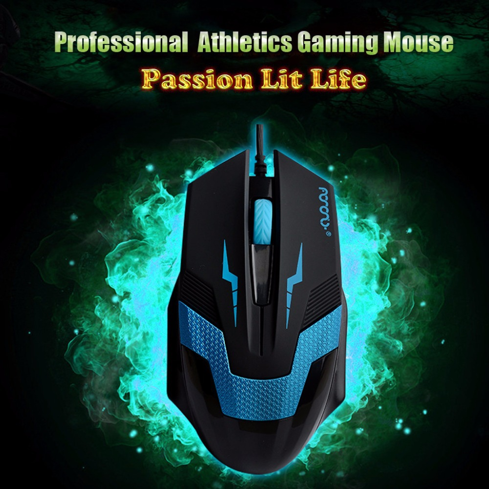 Optical 1600 DPI USB 2 0 Wired 3D Competitive Professional Athletics Gaming Mouse for Laptop PC