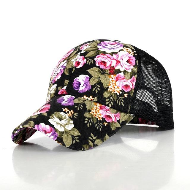 2016 горячая распродажа женский цветочный бейсболку для женщин весна и лето свободного ...
