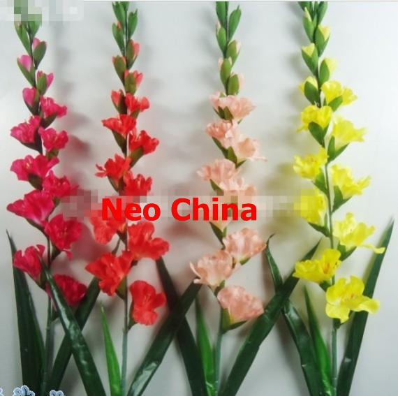 Wholesale gladiolus,sword lily,Gladiola,high 116cm,artificial silk flowers,wedding/home flowers, free shipping(China (Mainland))