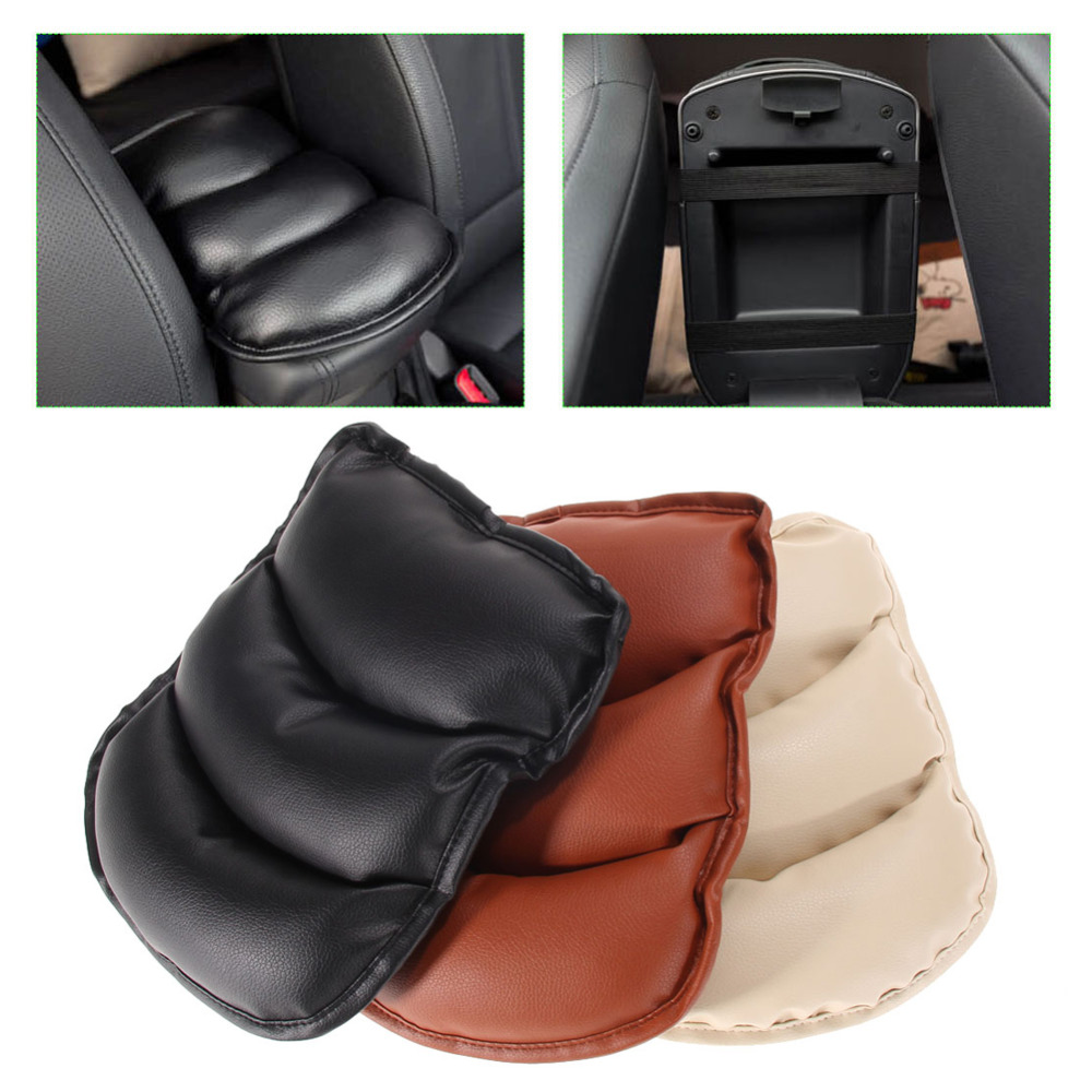 Promotion! Universal Car Auto Armrests Cover Vehicle Center Console Arm Rest Seat Box Pad Protective Case Soft PU Mats Cushion(China (Mainland))