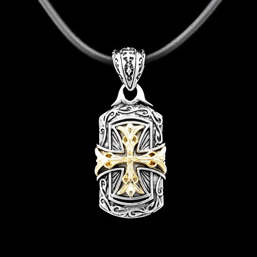 High Quality Brand Necklace/  Platinum & Gold Cross Pendant/ Handmade Baroque Necklace/ Trendy Jeweleries
