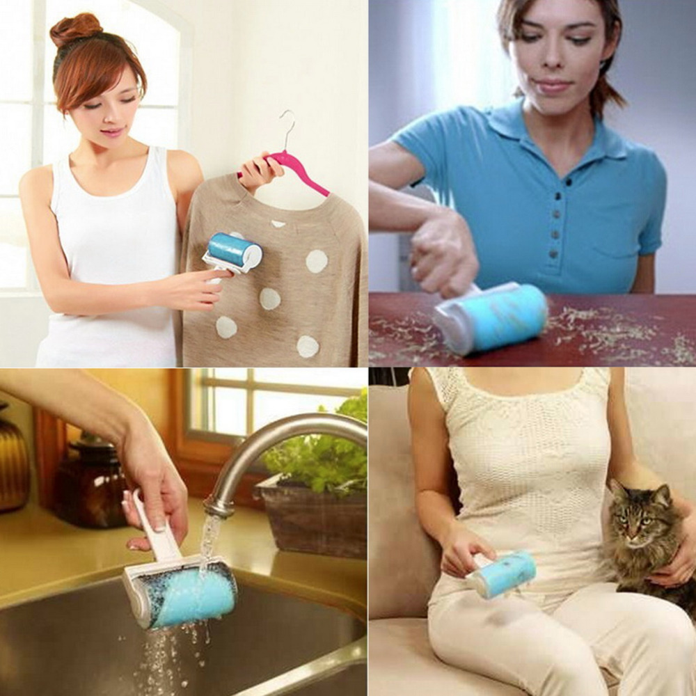 Super Sticky Washable Dust Lint Roller With Cover for Fluff Pet Hair Dust Remover Lint Sticking Dusting Roller hot(China (Mainland))