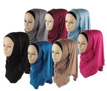 Cotton Jersey Hijabs for Women 2015 Newest Fashion Muslim scarf & Wrap 32 colors Islamic headband  free shipping(China (Mainland))