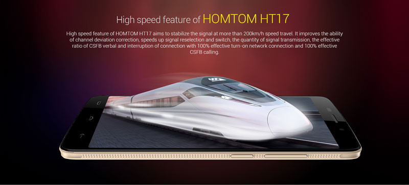Original HOMTOM HT17 Phone Mobile MTK6737 5.5 inch Android 6.0 Quad Core 4G 1GB+8GB OTG 13.0MP Fingerprint Smartphone