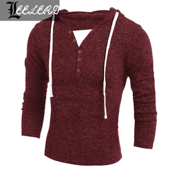 2015 new Men's Pullover Fashion High Collar Hedging Solid Sweate Knit Men Pull Homme Cotton Maglione Uomo Keep Warm Men Clothing