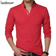 HOT SELL 2016 New Fashion Brand Men Clothes Solid Color Long Sleeve Slim Fit T Shirt Men Cotton T-Shirt Casual T Shirts 4XL 5XL(China (Mainland))