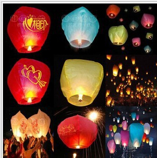 1000 Pieces Chinese Lanterns Fire Sky Fly Candle Lamp for Birthday Wedding Party lantern Wish Lamp Sky Lanterns Free Shipping(China (Mainland))