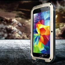 LOVE MEI Waterproof Aluminum Metal Case Dustproof Shockproof Gorilla Glass Cover for Samsung Galaxy S5 S V i9600 2014 New(China (Mainland))