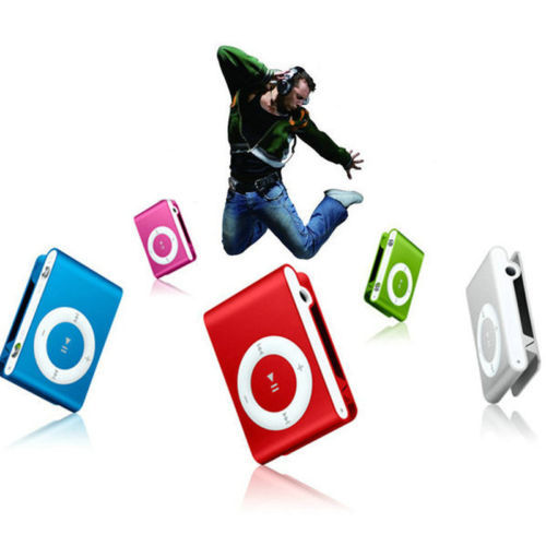 Mini Clip Metal USB MP3 Music Media Player with USB Cable Support Micro SD TF 1