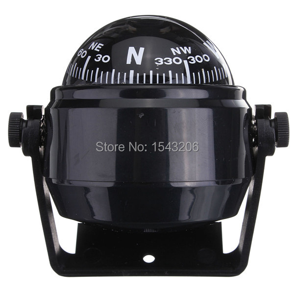 Waterproof Pivoting Sea Marine Car Boat Truck Black Spherical for Compass Direction Navigation Hanging Ring Type(China (Mainland))