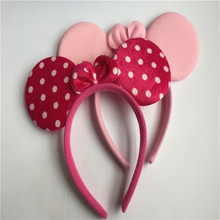 1pcs Children Girls Minnie Mouse Hairwear Band mickey Ears Hairband For Birthday Party Decorations Kids Party Supply Accessories(China (Mainland))