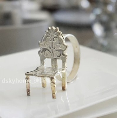FBH071768 suite hotel mockup western-style food tableware fittings silver napkin ring bamboo chair modelling(China (Mainland))