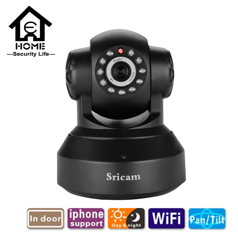 IP Camera SP012 Sricam 720P Baby Monitor Wireless Pan/Tilt Day/Night Audio Inbuilt Speaker mini CCTV P2P Camera(China (Mainland))