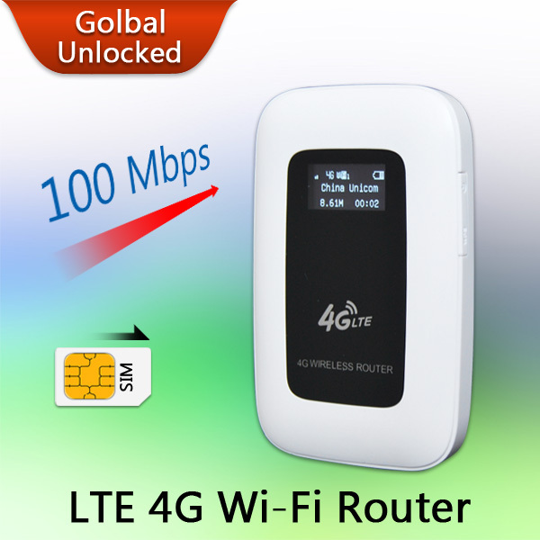 2015 New Support LTE WCDMA GSM Unlocked Wireless Pocket Router Mobile WiFi Hotspot 3G 4G WiFi Router with SIM Card Slot(China (Mainland))