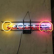 """33 """"X 10"""" PAC MAN SPIEL Beer Bar Pub Werbung Echtglas Neonlicht-zeichen(China (Mainland))"""