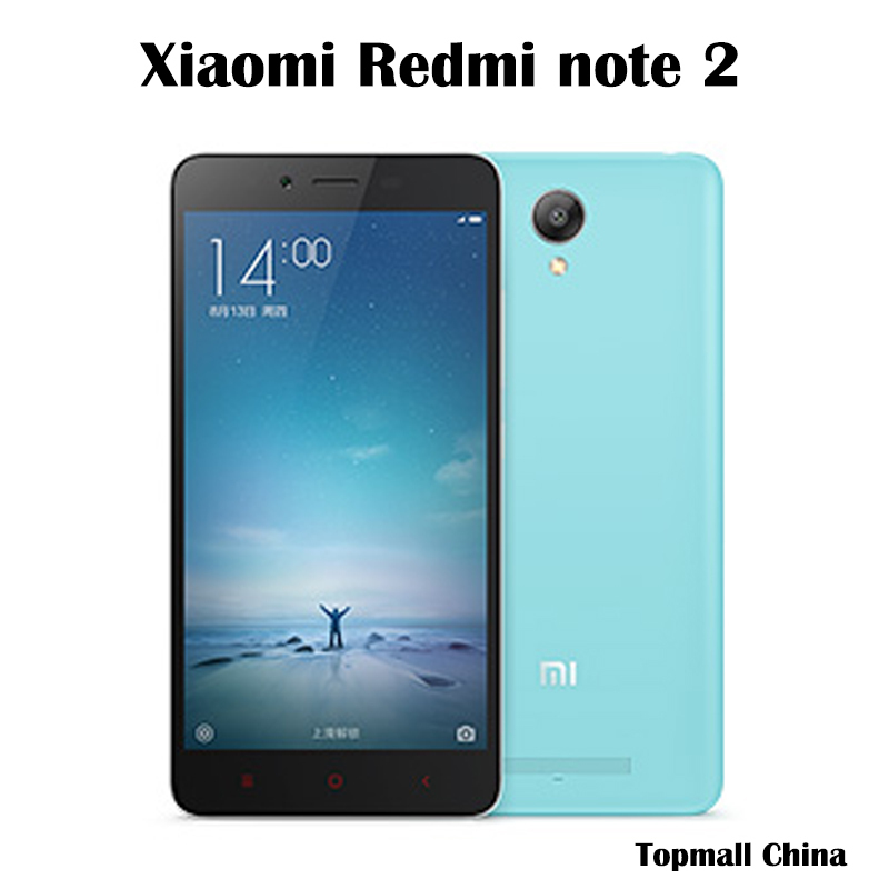 Original Xiaomi redmi note 2 phone 4G FDD LTE MTK X10 2.0Ghz Octa Core 64bit 5.5'' MIUI7 2GB RAM 16GB ROM 3060mAh google play(China (Mainland))
