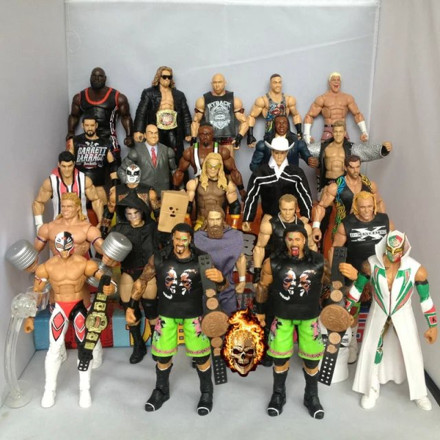 [part 1] wrestling action figures boxing sports model(China (Mainland))