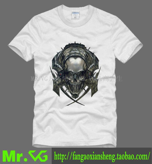 Megadeth Vic Rattlehead Action Figure Thrash Metal Dave Mustaine couple clothe man men male plus size sports T-shirt(China (Mainland))