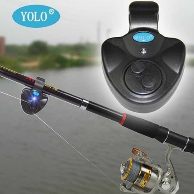 Universal Fishing Alarm Electronic Fish Bite Alarm Finder Sound Alert Running LED Clip On Fishing Rod Fishing Line Tackle Boxes(China (Mainland))