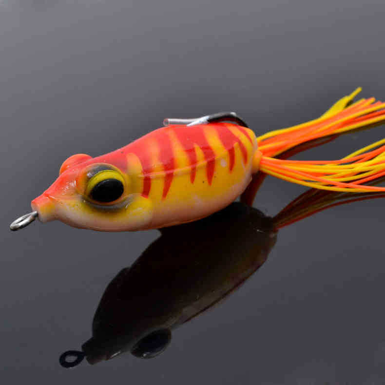 2xtrulinoya single barbed soft frogs fishing bait 65mm 13 for Best bait for pond fishing