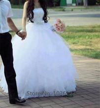 Vestidos de noiva Long Elegant Tulle Sleeveless Floor Length Off the Shoulder Ball Gown Wedding Dresses