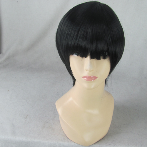 Nase Hiroomi Black Short Straight Heat Resistance Synthetic Cosplay Anime Wig,Coser Hair - CUSTOMIZED COSPLAY WIGS Ltd. Store 111241 store