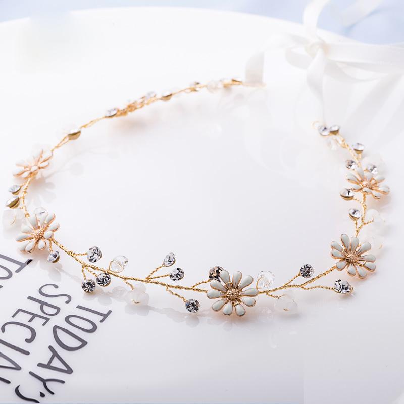 2017 wedding romantic beauty flower with pearl rhinestone pure handmade crystal bridal headpieces vintage hair accessories(China (Mainland))