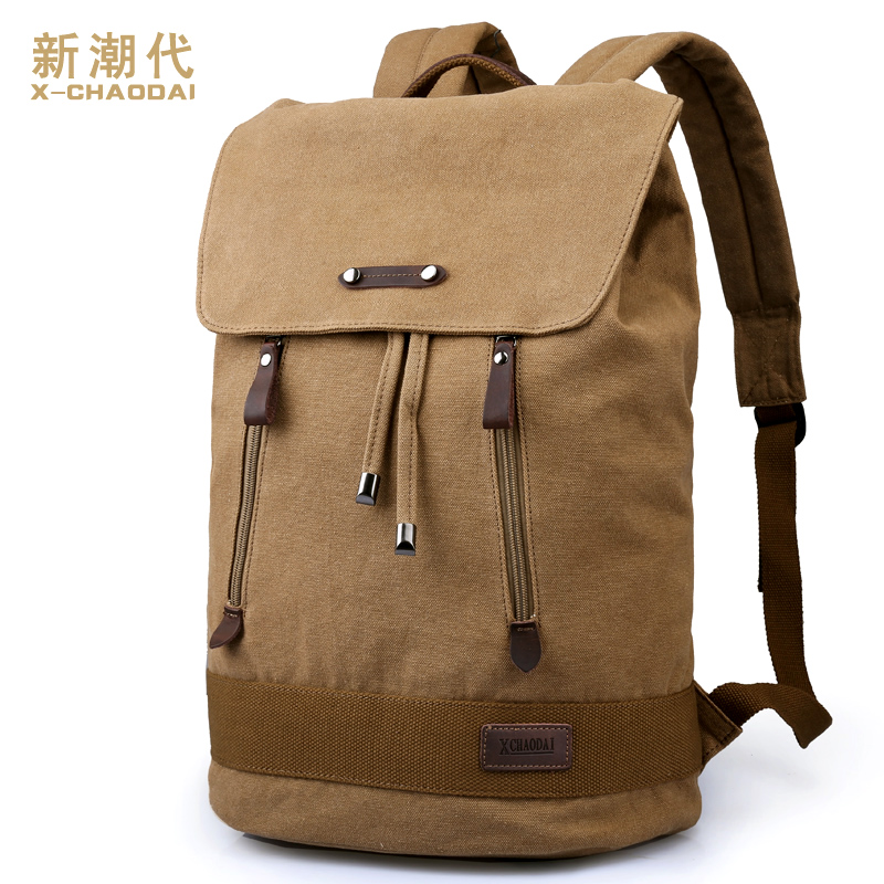 Man's canvas shoulder bag Leisure travel bag laptop bag Travel Backpack school bags men's Sports backpack(China (Mainland))