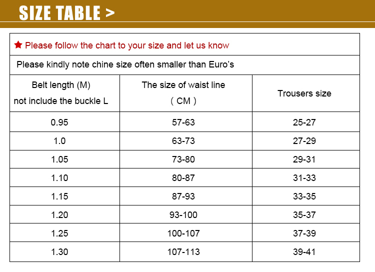 Men's and women's belt size chart to determine which size is right for you! We want you to be happy with your belt so, the right size will help. Men's and women's belt size chart to find which size is yours.