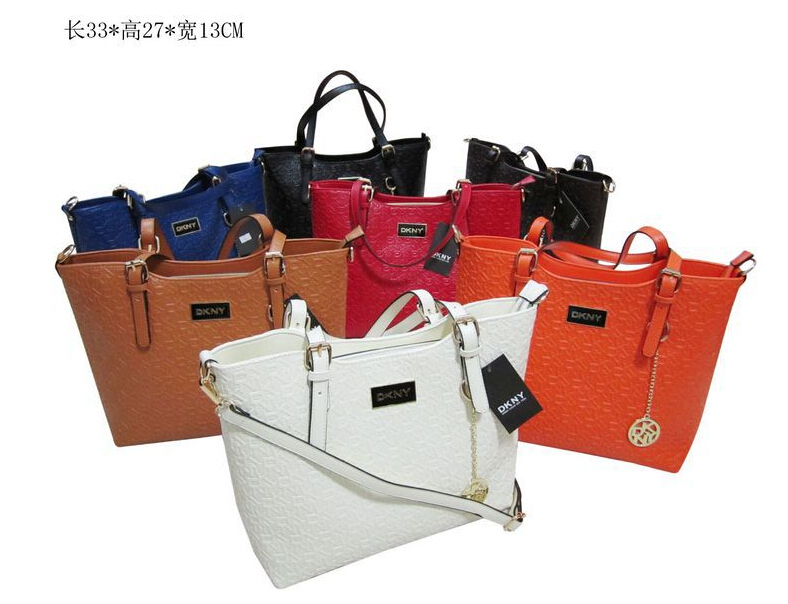 2015 New arrive Women bags Famous Brands logo dkn bags C tote line shoulder bags summer style Leather handbags clutch 7 color(China (Mainland))