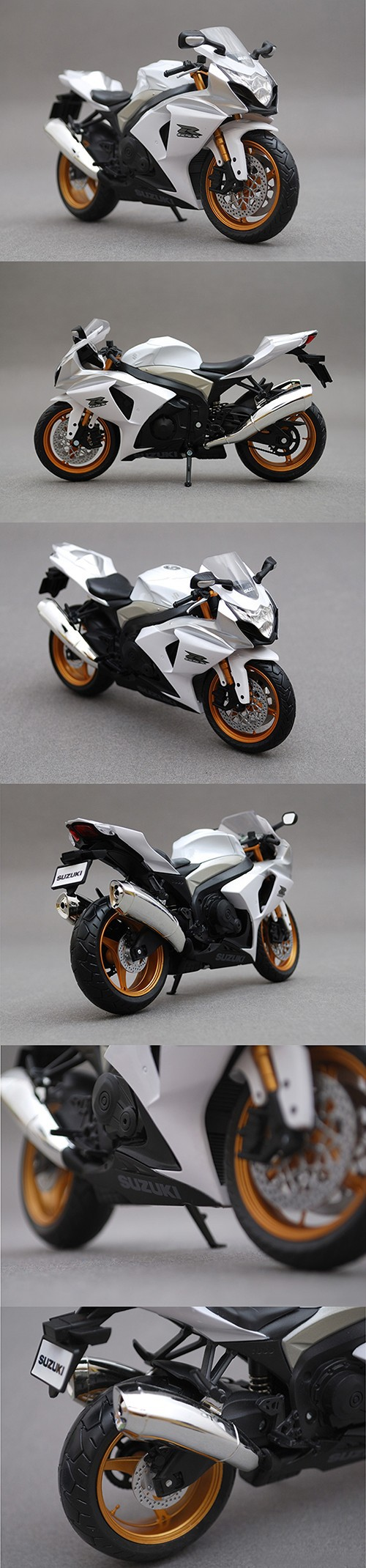 SZK K9 GSX R-1000 White 1:12 scale metal diecast models motor bike miniature race Toy For Gift Collection