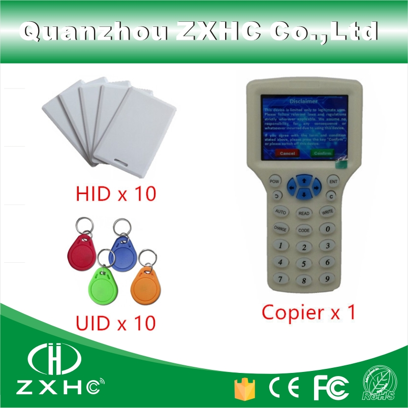 English Language RFID Reader Writer Copier Duplicator 125Khz 13.56Mhz 10 Frequency USB For IC/ID Cards + 20pcs RFID Tags(China (Mainland))