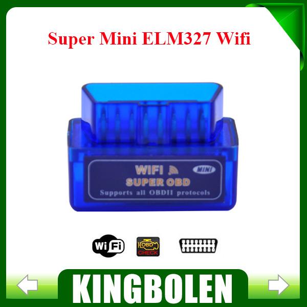 2015 Free Shipping Super Mini ELM327 WIFI OBDII Car Auto Diagnostic Scan Tool For iOS/Android MINI WIFI ELM 327 Free Shipping(China (Mainland))