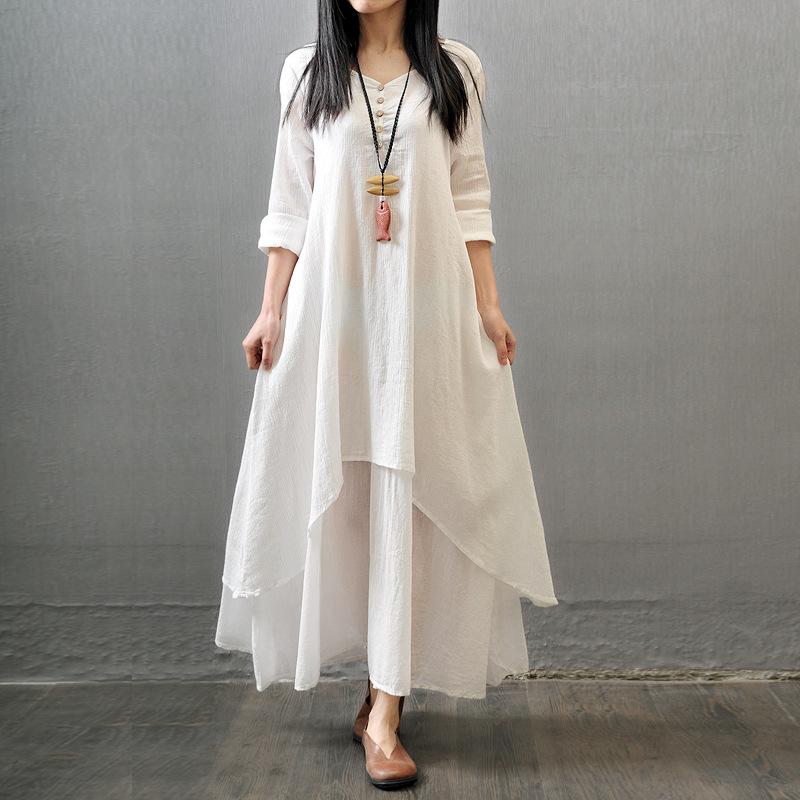 Popular Long Linen Dress Maxi Dress-Buy Cheap Long Linen Dress ...