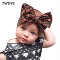 TWDVS Newborn Big Bow Knot Flower Hair Band Kids Elastic Headband Cotton Hair Accessories Ring Flower
