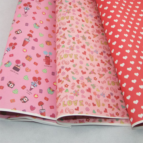 gift wrapping paper 5sheets/lot 5 different Heart design mixed 60g DIY paper wedding favors and gifts in event & party supplies(China (Mainland))