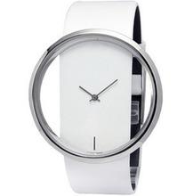 2015 Charming New arrivla Women Leather Transparent Dial Succinct Sport Quartz Watch Gift Wristwatch For Women Men