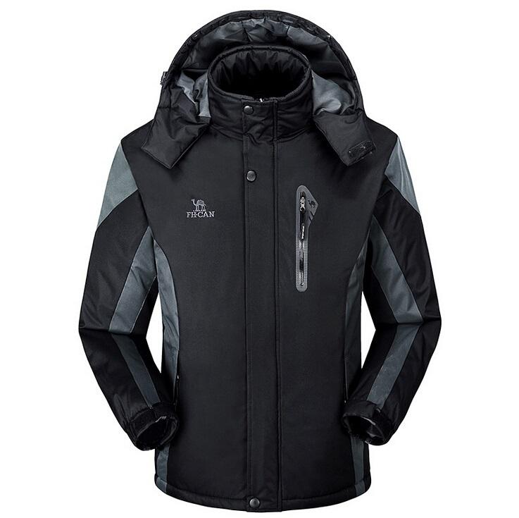 Winter Men's Waterproof Soft Shell Outdoor Jackets Camping Wear Coat Snowboard Outerwear for Men Fleece Jacket(China (Mainland))